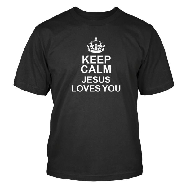 Keep Calm Jesus Loves You T-Shirt
