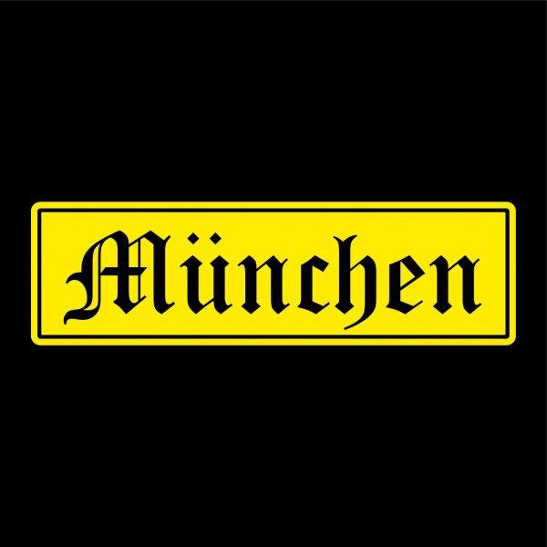 München Städte Auto Aufkleber Sticker 5cm x 17cm