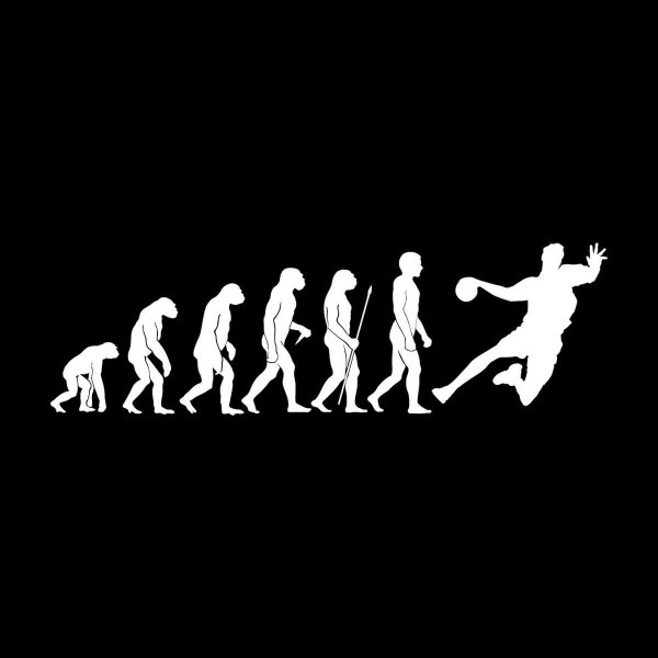 Handball Evolution Aufkleber Sticker 31 x 9,5 cm