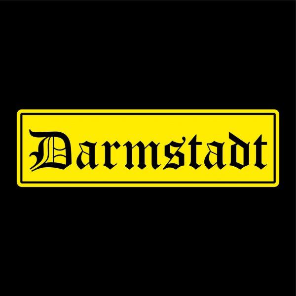 Darmstadt Städte Auto Aufkleber Sticker 5cm x 17cm