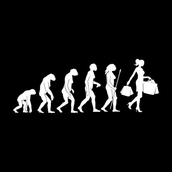 Frauen Evolution Aufkleber Sticker 31 x 11,5 cm