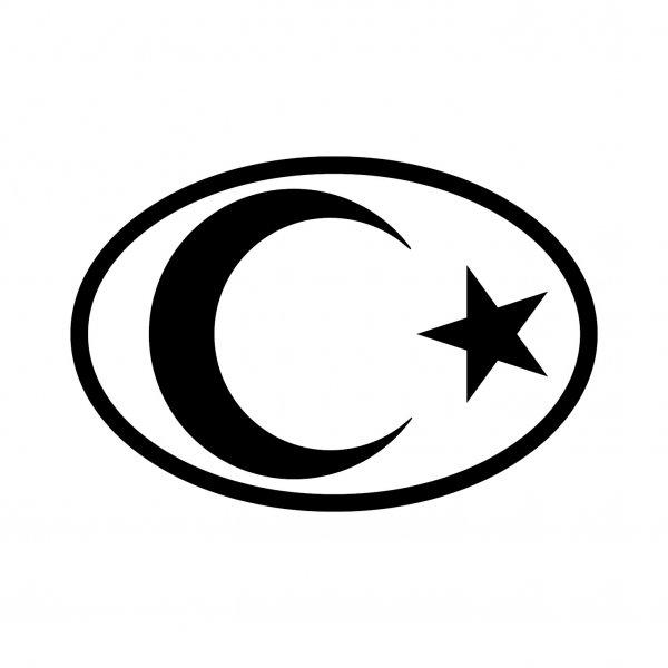 Türkei Mondstern Aufkleber Autoaufkleber Sticker 15cm x 10cm