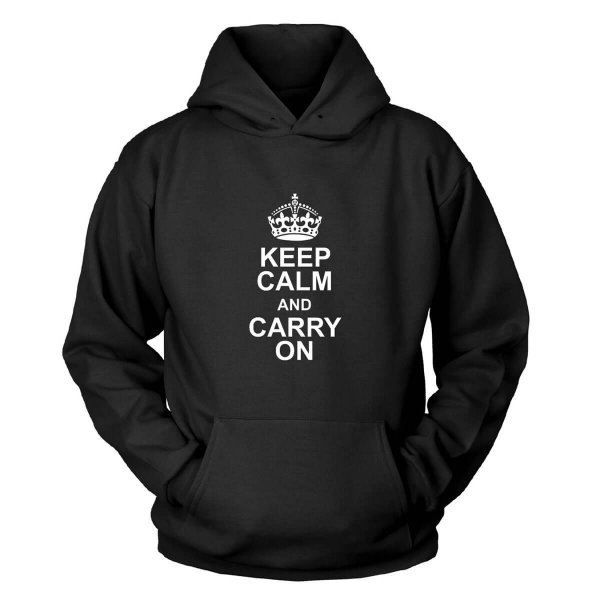 Keep Calm Carry On Kapuzenpullover