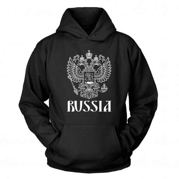 Russland Russia Kapuzenpullover Adler Wappen Russian Shirtblaster