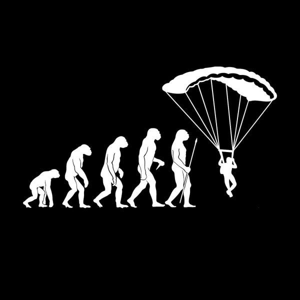 Fallschirm Evolution Aufkleber Sticker 31 x 17 cm