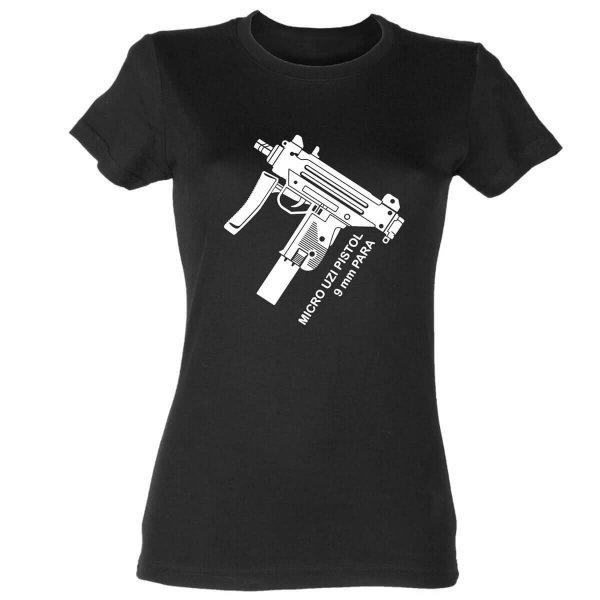 Micro Uzi 9mm Damen T-Shirt