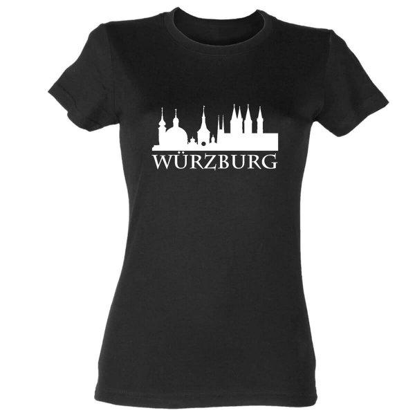 #Heimvorteil Würzburg Skyline Franken Damen T-Shirt