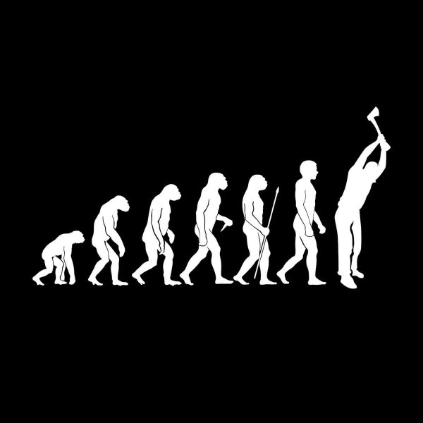 Holzfäller Evolution Aufkleber Sticker 31 x 15,5 cm