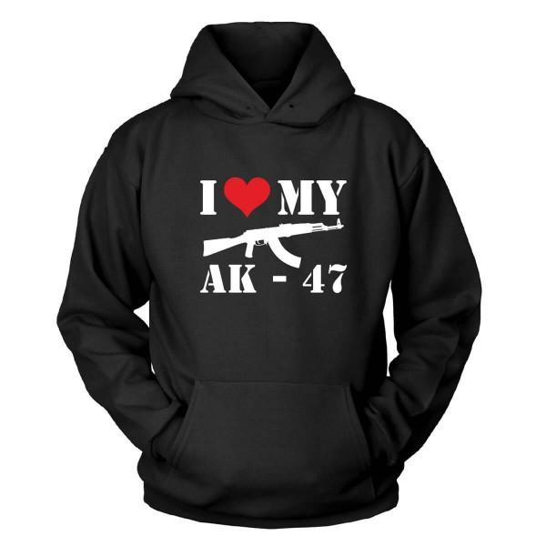 I Love My Ak-47 Kapuzenpullover