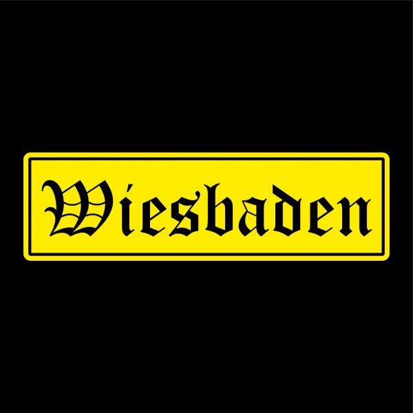 Wiesbaden Städte Auto Aufkleber Sticker 5cm x 17cm