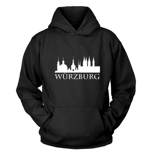 #Heimvorteil Würzburg Skyline Franken Kapuzenpullover