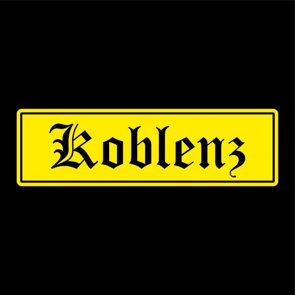 Koblenz Städte Auto Aufkleber Sticker 5cm x 17cm