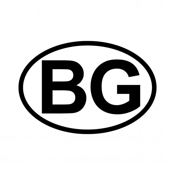 Bulgarien BG Aufkleber Autoaufkleber Sticker 15cm x 10cm