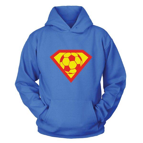 Fussball Supermann Kapuzenpullover