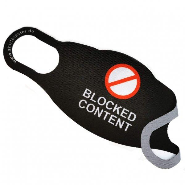 Corona Maske Mehrweg Mundschutz Blocked Content waschbar S-L