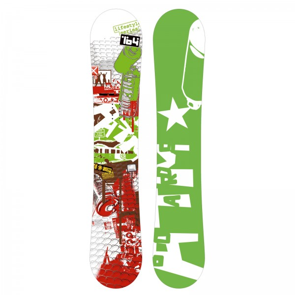 Freestyle und Backcountry Snowboard Atom Graffiti Unisex Carbon Sandwich