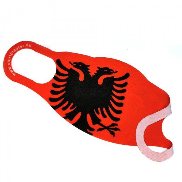 Maske Mund-Nasen-Bedeckung Stoffmaske Shqiperia Albanien waschbar S-L