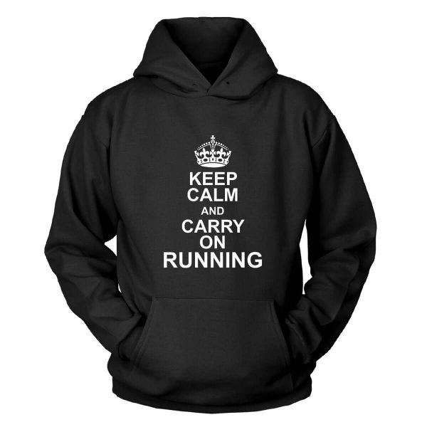 Keep Calm and carry on running Kapuzenpullover