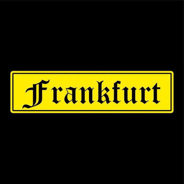 Frankfurt Städte Auto Aufkleber Sticker 5cm x 20cm