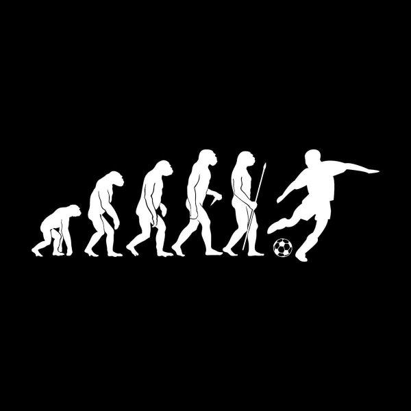 Fussball Evolution Aufkleber Sticker 31 x 10 cm