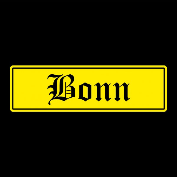 Bonn Städte Auto Aufkleber Sticker 5cm x 17cm
