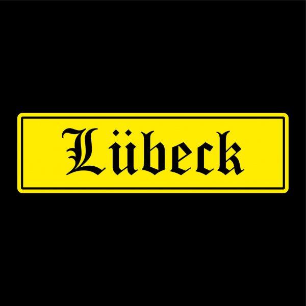 Lübeck Städte Auto Aufkleber Sticker 5cm x 17cm