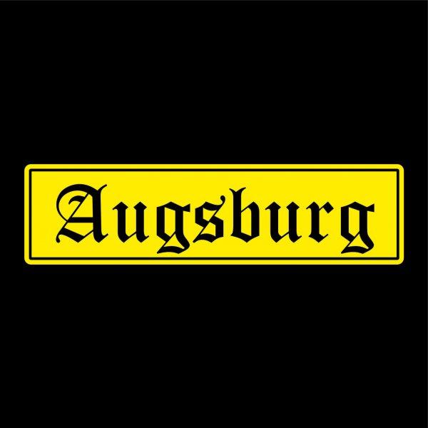 Augsburg Städte Auto Aufkleber Sticker 5cm x 19cm
