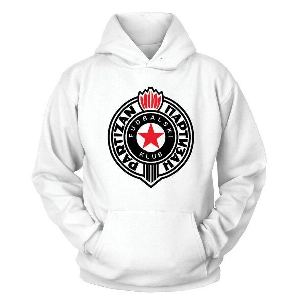Partizan Belgrad Kapuzenpullover