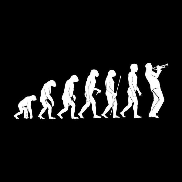 Trompete Evolution Aufkleber Sticker 31 x 11 cm