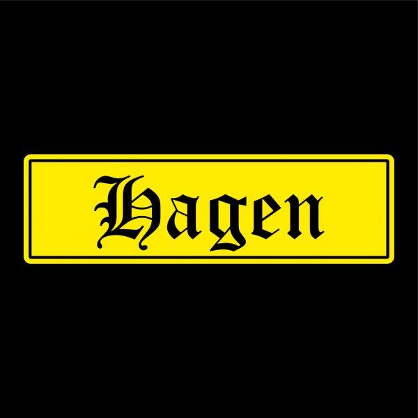 Hagen Städte Auto Aufkleber Sticker 5cm x 17cm