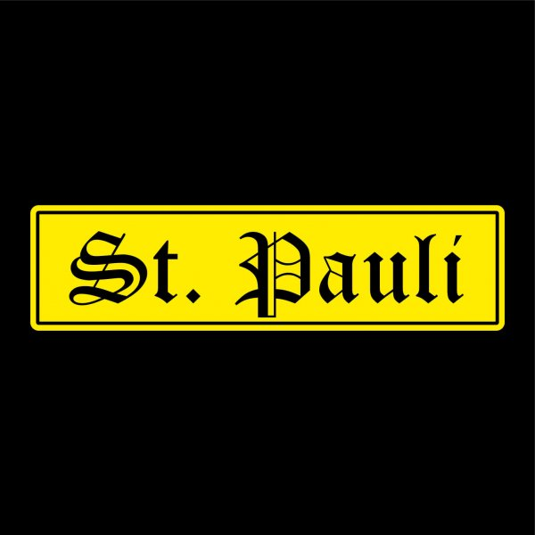 St. Pauli Auto Aufkleber Sticker 5cm x 19cm