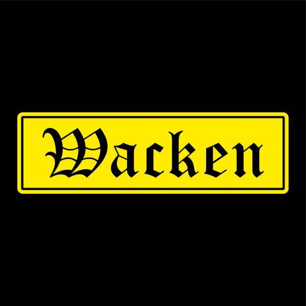 Wacken Städte Auto Aufkleber Sticker 5cm x 17cm