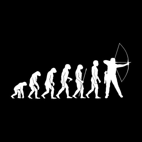 Bogenschütze Evolution Aufkleber Sticker 31 x 14 cm