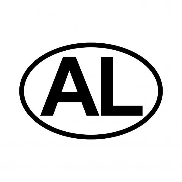Albanien AL Aufkleber Autoaufkleber Sticker 15cm x 10cm