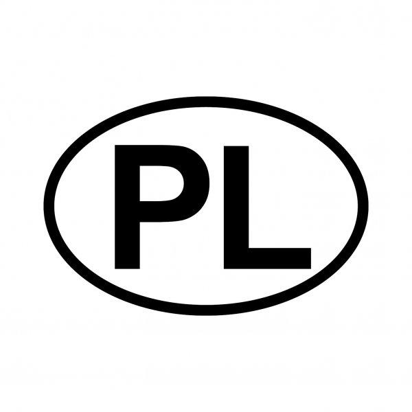 Polen PL Aufkleber Autoaufkleber Sticker 15cm x 10cm
