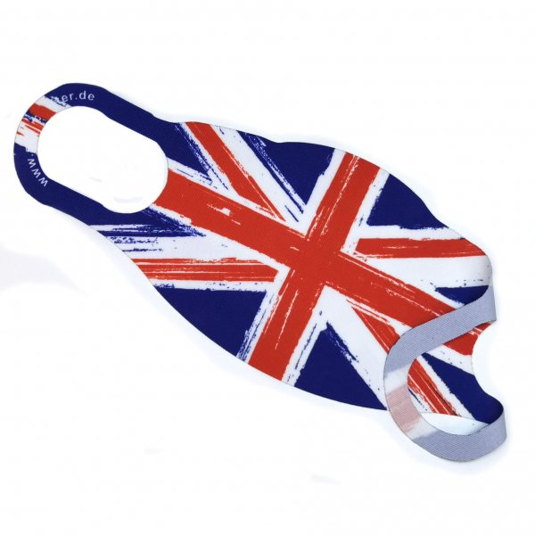 Corona Maske Mehrweg Mundschutz UK Great Britain England Union Jack S-L
