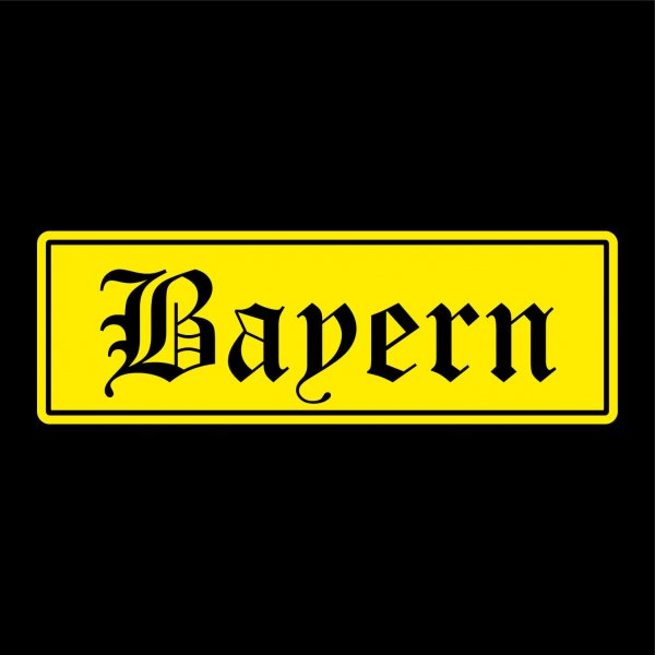 Bayern Auto Aufkleber Sticker 5cm x 16cm