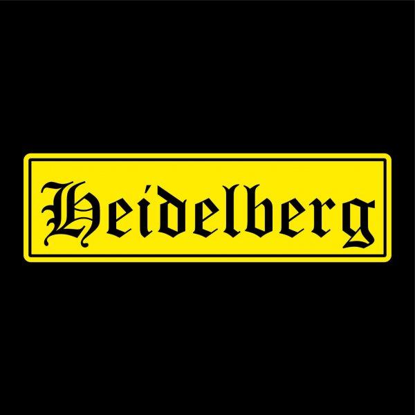 Heidelberg Städte Auto Aufkleber Sticker 5cm x 17cm