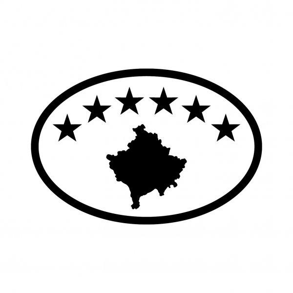 Kosovo Aufkleber Autoaufkleber Sticker 15cm x 10cm