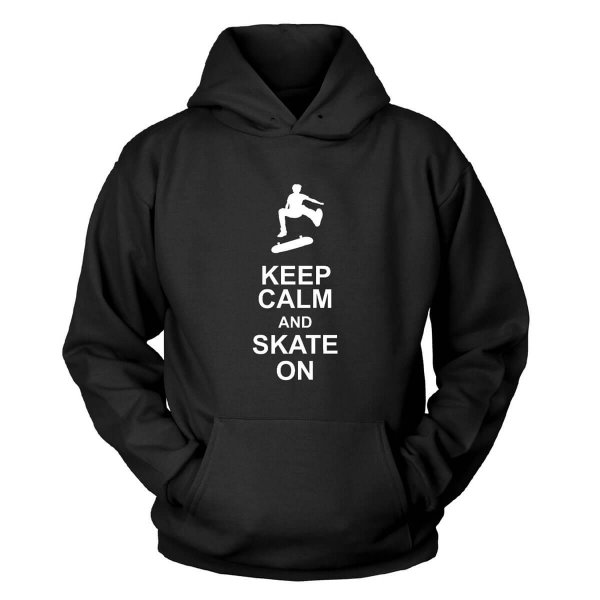 Keep Calm And Skate On Kapuzenpullover