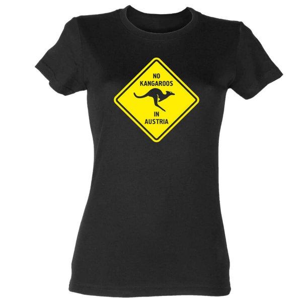 No Kangaroos in Austria Damen T-Shirt