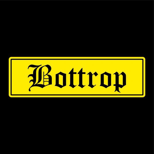 Bottrop Städte Auto Aufkleber Sticker 5cm x 17cm