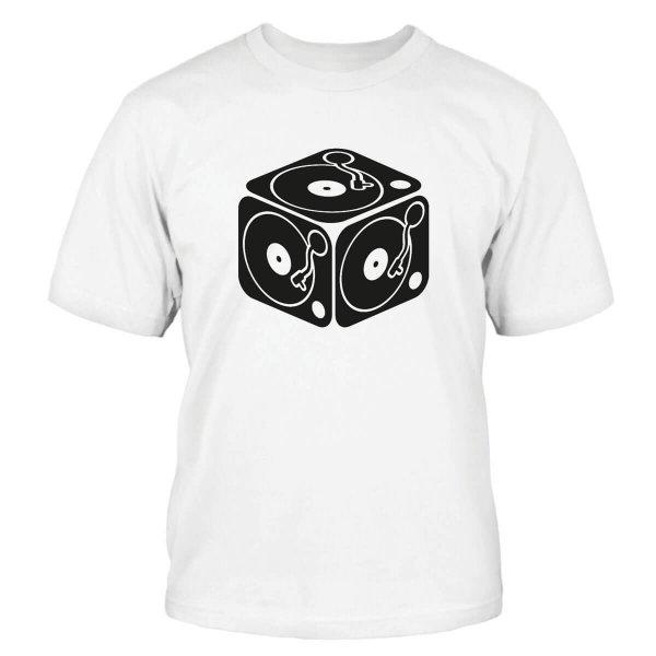 Plattenspieler Würfel T-Shirt