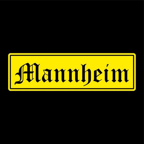 Mannheim Städte Auto Aufkleber Sticker 5cm x 17cm