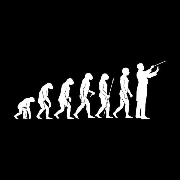 Dirigent Evolution Aufkleber Sticker 31 x 12 cm