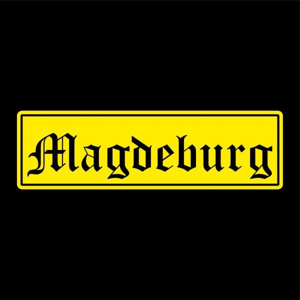 Magdeburg Städte Auto Aufkleber Sticker 5cm x 17cm