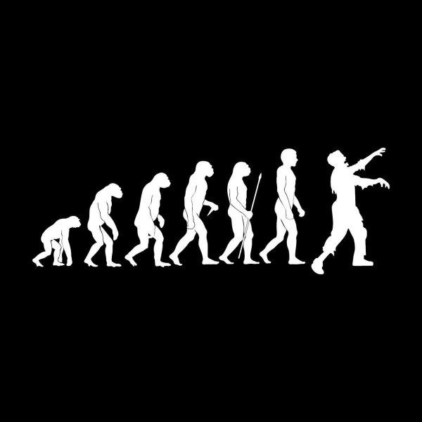 Zombie Evolution Aufkleber Sticker 31 x 11 cm