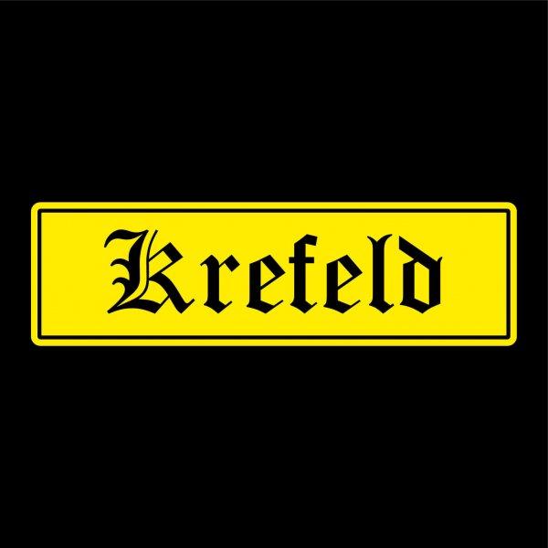 Krefeld Städte Auto Aufkleber Sticker 5cm x 17cm
