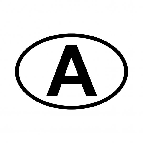 Austria A Aufkleber Autoaufkleber Sticker 15cm x 10cm
