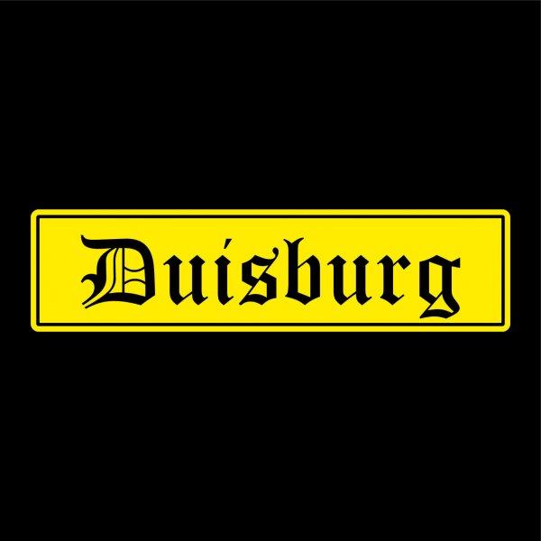 Duisburg Auto Aufkleber Sticker 5cm x 20cm